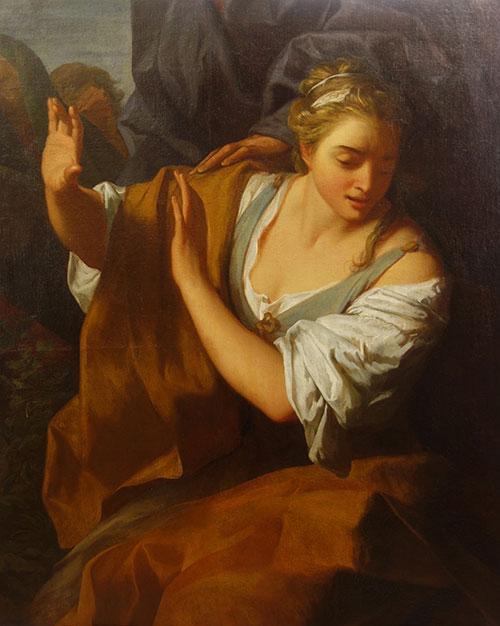 Femme esquissant un geste de dédain