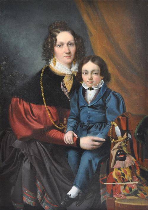 Portrait mère et fils